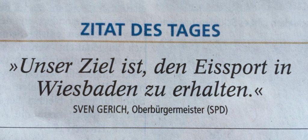 Neue Eisbahn wahrscheinlich: Zitat OB Sven Gerich