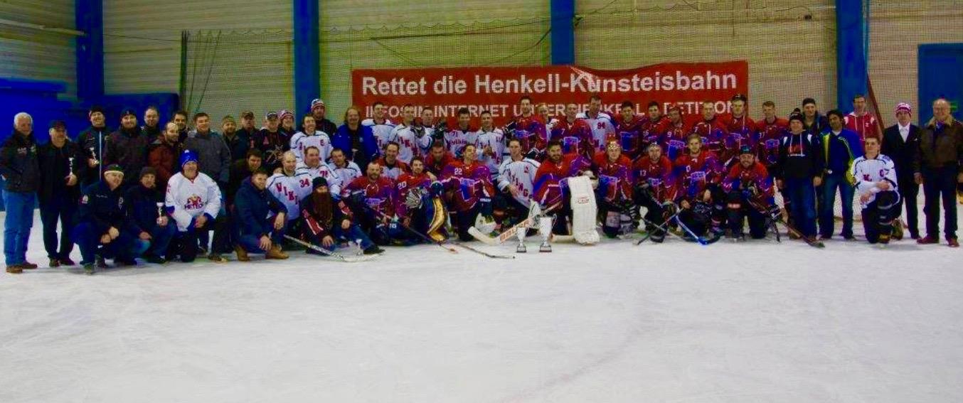 Spenden für den Förderverein: Auch die Vikings setzen sich für den Erhalt des Henkell-Kunsteisbahn ein!