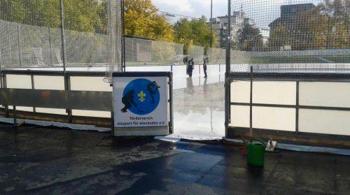 Sportstadt Wiesbaden: Blick auf die Henkell-Kunsteisbahn