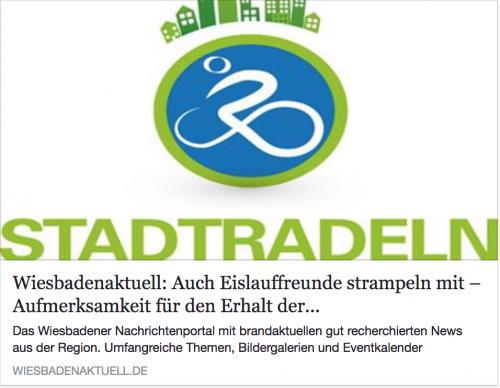 WiesbadenAktuell: Eislauffreunde strampeln mit beim Stadtradeln