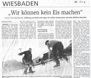 """Defekte Eismaschine: Zeitungsartikel """"Wir können kein Eis machen"""""""