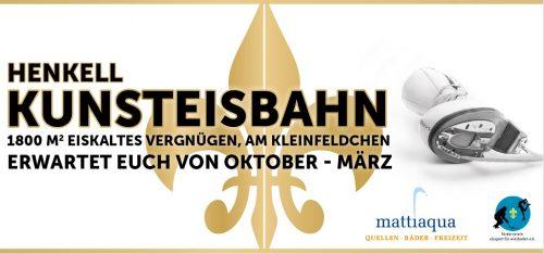 Plakat Saisoneröffnung 2016 Henkell-Kunsteisbahn mit Sponsoren