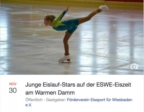 Eissport-Talente Wiesbadener Vereine: Eiskunstläuferin bei der Kür