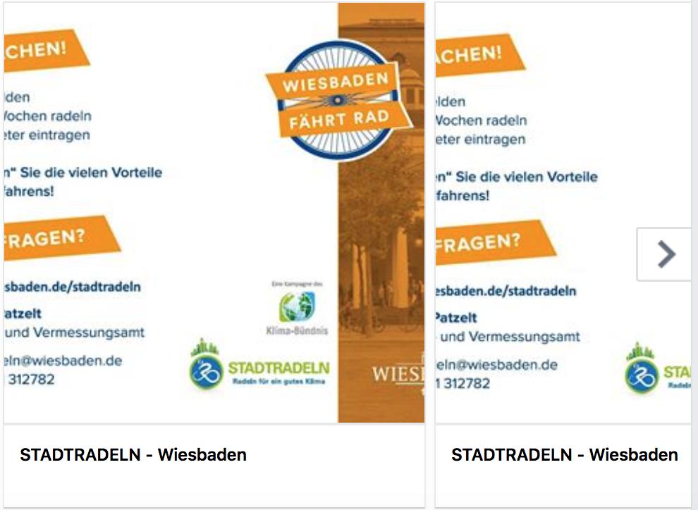 Stadtradeln beginnt: Internetseite Stadtradeln Wiesbaden