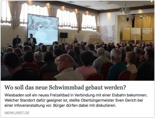 """Frage nach dem Standort: Artikel merkurist.de """"Wo soll das neue Schwimmbad gebaut werden?"""" von Lisa Marie Christ"""