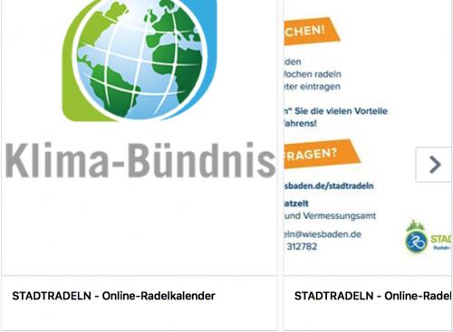 Neue Herausforderung: Internetseite Stadtradeln mit Logo Klimabündnis