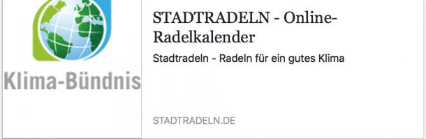 Anmelden: Internetseite Stadtradeln - Online Radelkalender
