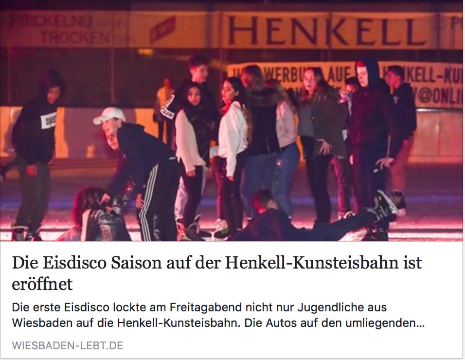 Erste Eisdisco 2017: Artikel von 'Wiesbaden lebt'