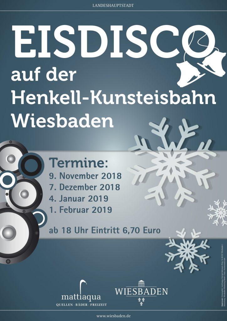 Plakat Eisdisco Saison 18/19