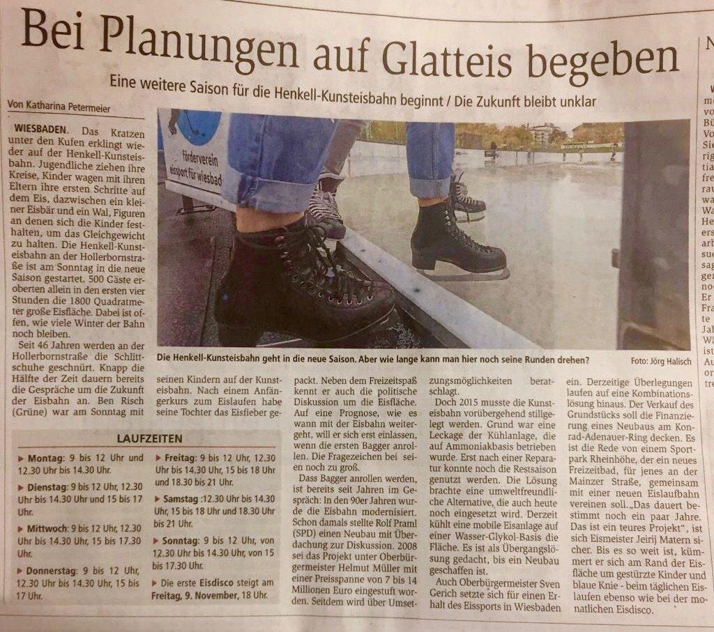 Zeitungsartikel Wiesbadener Kurier 05.11.18