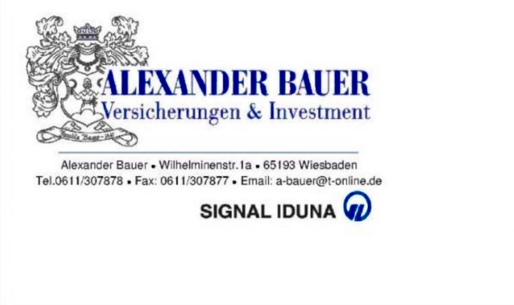 Sponsoren: Logo Signal Iduna Generalagentur Alexander Bauer