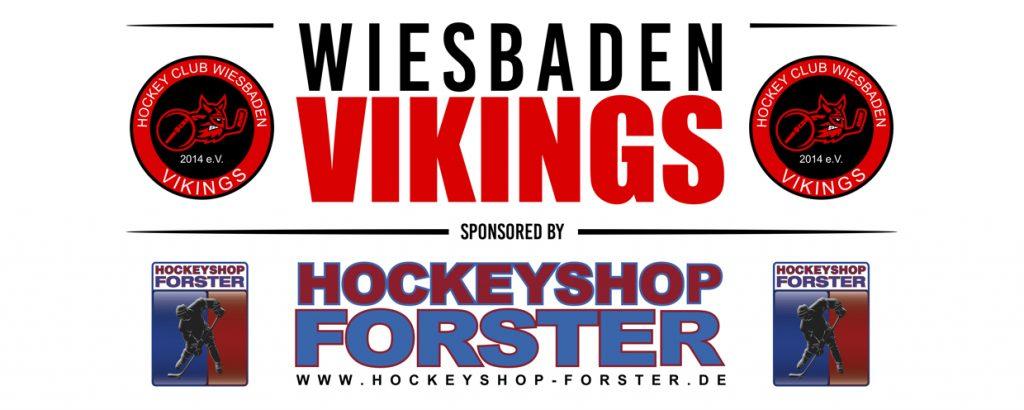 Sponsoren: Logo Hockeyshop Forster und Wiesbaden Vikings