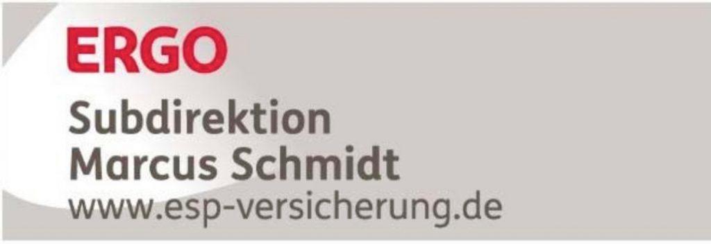 Sponsoren: Logo ERGO Versicherung, Subdirektion Markus Schmidt